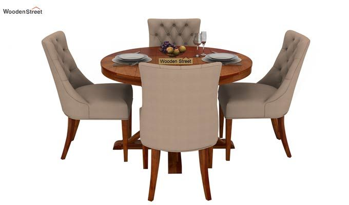 Ashford 4 Seater Dining Table Set (Honey Finish)-2