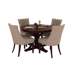Ashford 4 Seater Dining Table Set (Mahogany Finish)