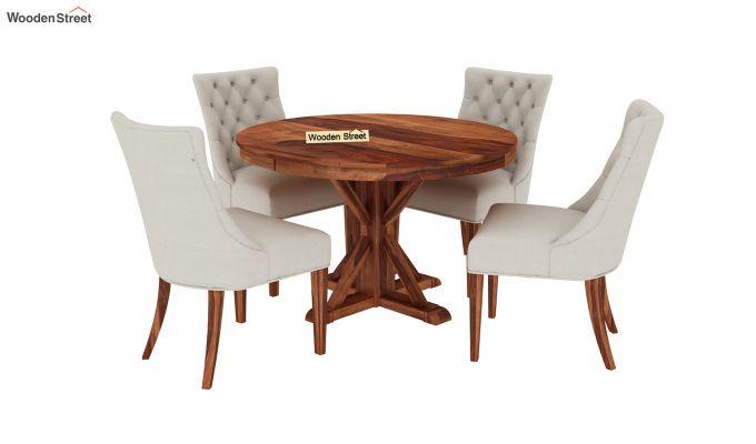 Ashford 4 Seater Dining Table Set (Honey Finish)-2