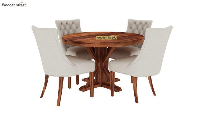 Ashford 4 Seater Dining Table Set (Honey Finish)-3