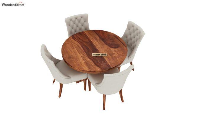 Ashford 4 Seater Dining Table Set (Honey Finish)-4
