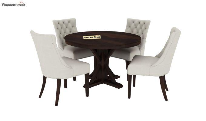 Ashford 4 Seater Dining Table Set (Walnut Finish)-2