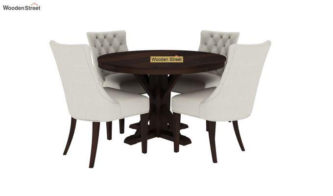 Ashford 4 Seater Dining Table Set (Walnut Finish)-3