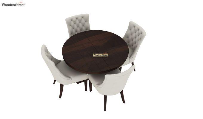 Ashford 4 Seater Dining Table Set (Walnut Finish)-4