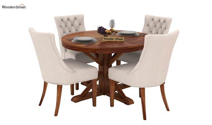 Ashford 4 Seater Dining Table Set (Teak Finish)-1