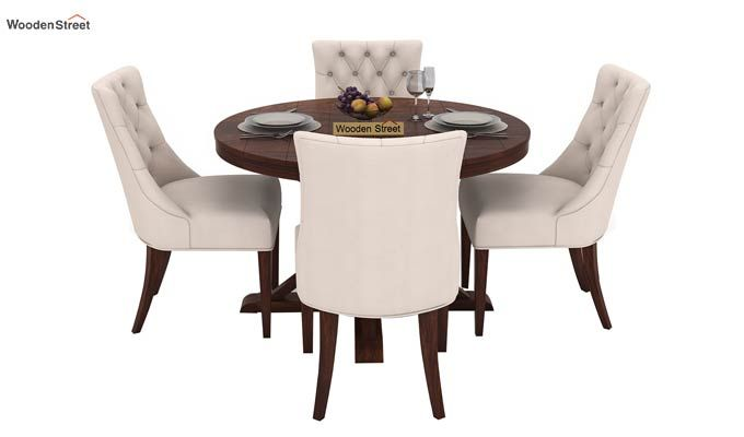 Ashford 4 Seater Dining Table Set (Walnut Finish)-2