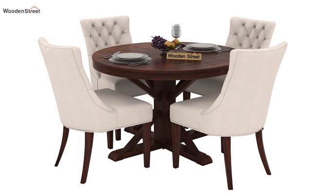 Ashford 4 Seater Dining Table Set (Walnut Finish)-3