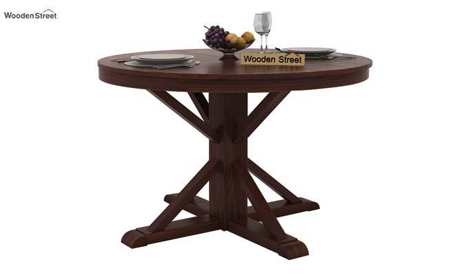 Ashford 4 Seater Dining Table Set (Walnut Finish)-7