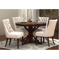 Ashford 4 Seater Dining Table Set (Walnut Finish)