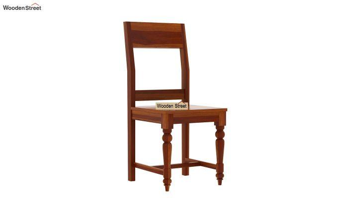 Boho 4 Seater Dining Table Set (Honey Finish)-4
