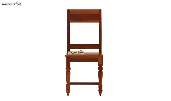 Boho 4 Seater Dining Table Set (Honey Finish)-5