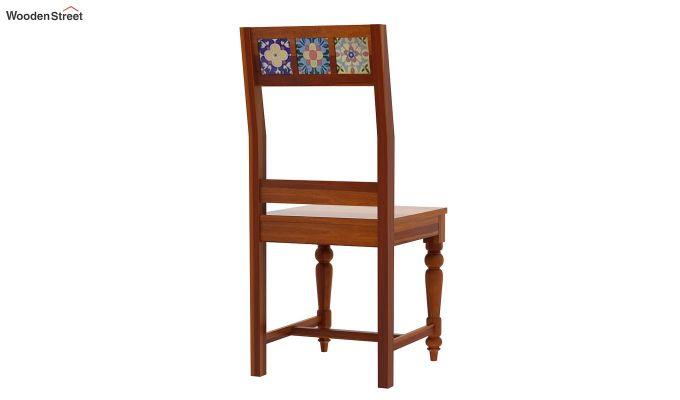 Boho 4 Seater Dining Table Set (Honey Finish)-6