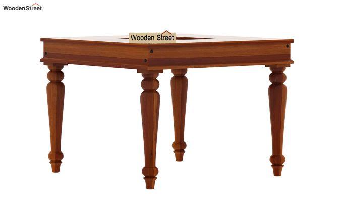 Boho 4 Seater Dining Table Set (Honey Finish)-7