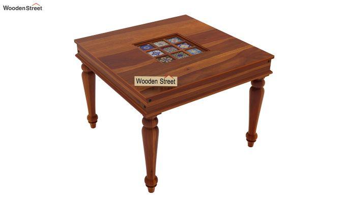 Boho 4 Seater Dining Table Set (Honey Finish)-8