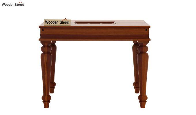 Boho 4 Seater Dining Table Set (Honey Finish)-9