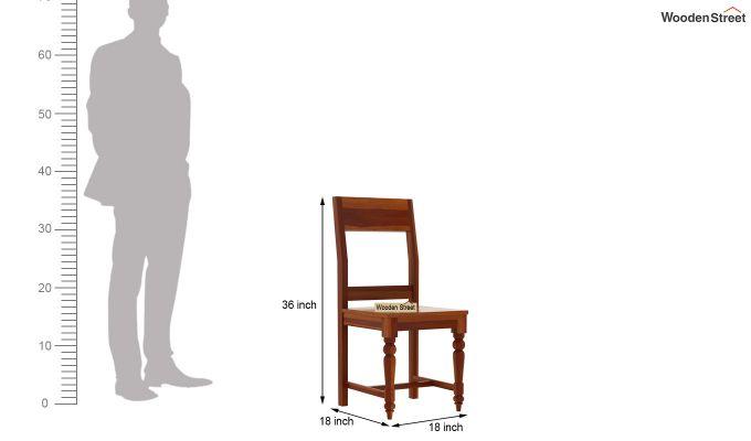 Boho 4 Seater Dining Table Set (Honey Finish)-11