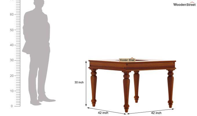 Boho 4 Seater Dining Table Set (Honey Finish)-10