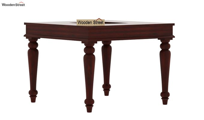 Boho 4 Seater Dining Table Set (Mahogany Finish)-6