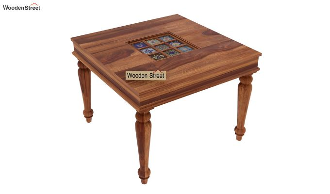 Boho 4 Seater Dining Table Set (Teak Finish)-7