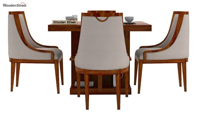 Bolton 4 Seater Dinning Set (Honey Finish)-3