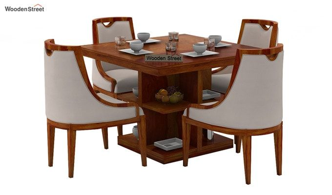Bolton 4 Seater Dinning Set (Honey Finish)-2
