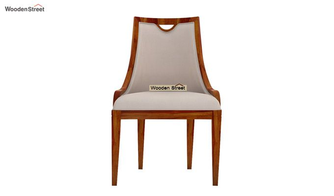 Dane Dining Chair (Honey Finish, Ivory Nude)-3
