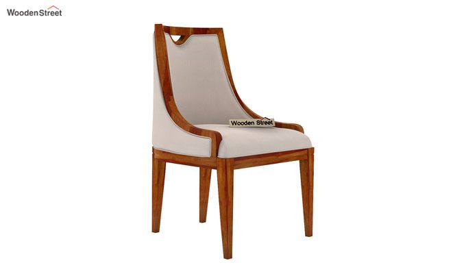 Dane Dining Chair (Honey Finish, Ivory Nude)-2