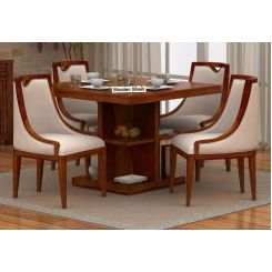 Bolton 4 Seater Dinning Set (Honey Finish)
