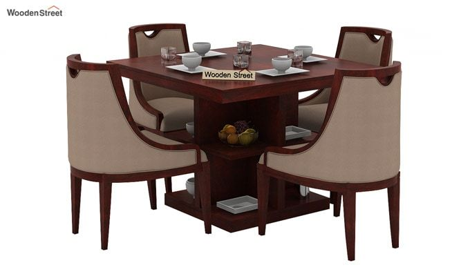 Bolton 4 Seater Dinning Set (Mahogany Finish)-1