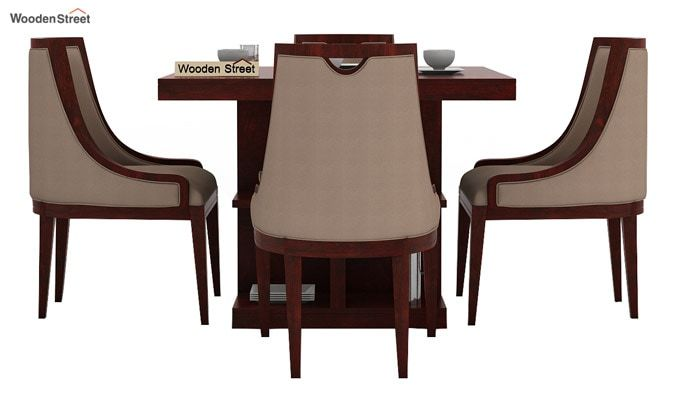 Bolton 4 Seater Dinning Set (Mahogany Finish)-2