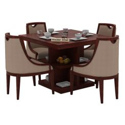 Bolton 4 Seater Dinning Set (Mahogany Finish)