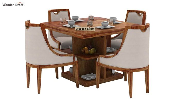 Bolton 4 Seater Dinning Set (Teak Finish)-1