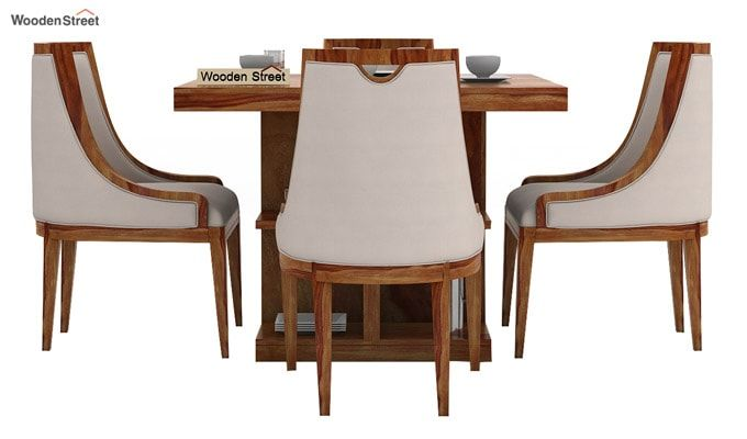 Bolton 4 Seater Dinning Set (Teak Finish)-2