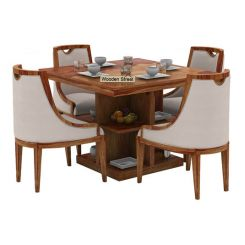 Bolton 4 Seater Dinning Set (Teak Finish)