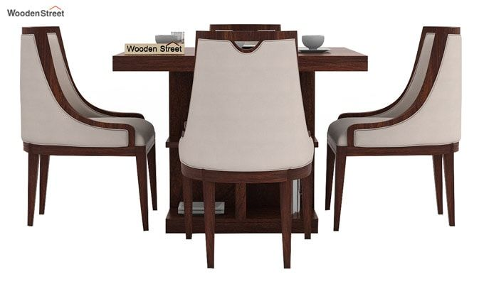 Bolton 4 Seater Dinning Set (Walnut Finish)-2