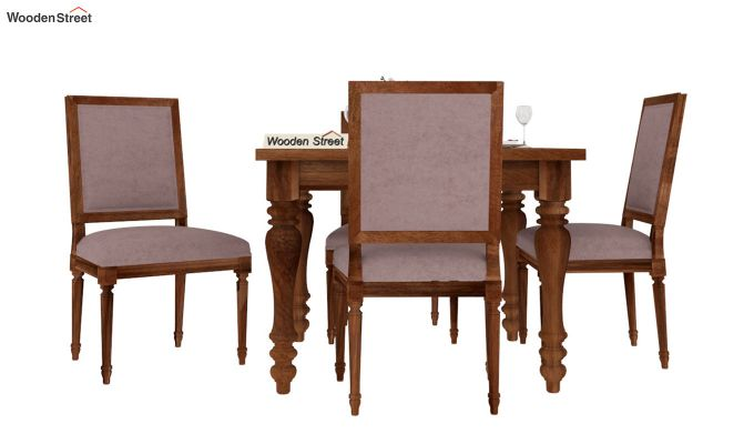 Bonita 4 Seater Dining Set (Natural Finish)-3