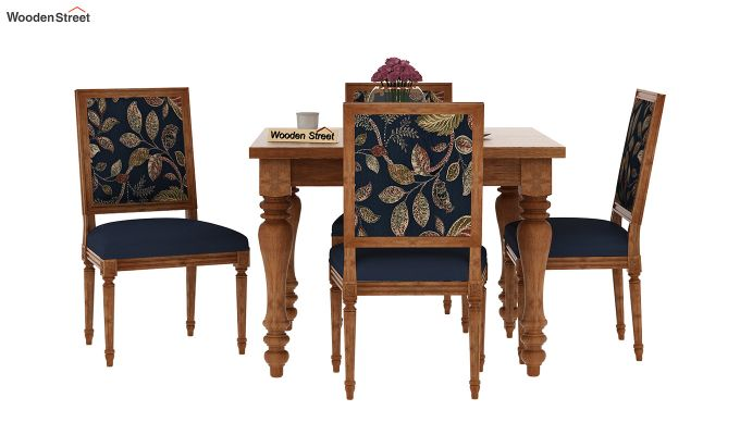 Buy Bonita 4 Seater Printed Dining Set Dusky Leaf