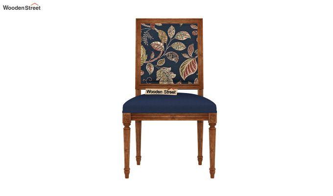 Bonita 4 Seater Printed Dining Set (Dusky Leaf, Natural Finish)-7