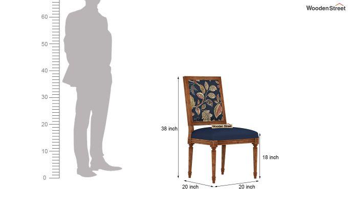 Bonita 4 Seater Printed Dining Set (Dusky Leaf, Natural Finish)-9