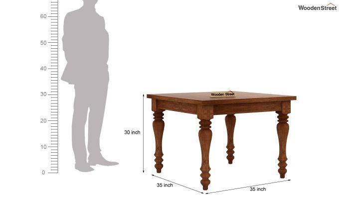 Bonita 4 Seater Printed Dining Set (Dusky Leaf, Natural Finish)-8
