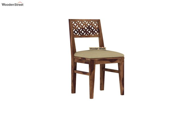 Cambrey Compact 4 Seater Dining Set with Bench (Teak Finish)-8