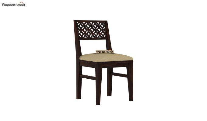 Cambrey Compact 4 Seater Dining Set with Bench (Walnut Finish)-8