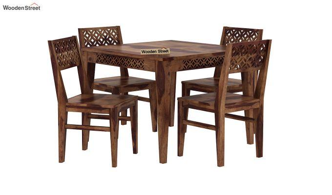 Cambrey 4 Seater Dining Set (Teak Finish)-2