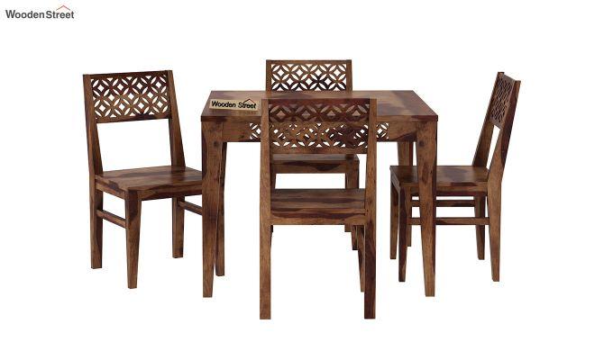 Cambrey 4 Seater Dining Set (Teak Finish)-3