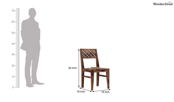 Cambrey 4 Seater Dining Set (Teak Finish)-9