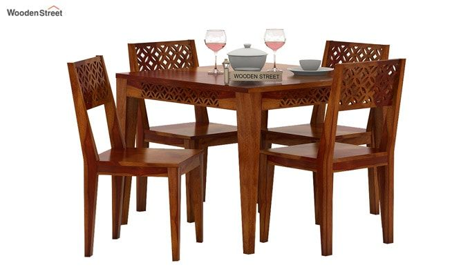 Cambrey 4 Seater Dining Set (Honey Finish)-2
