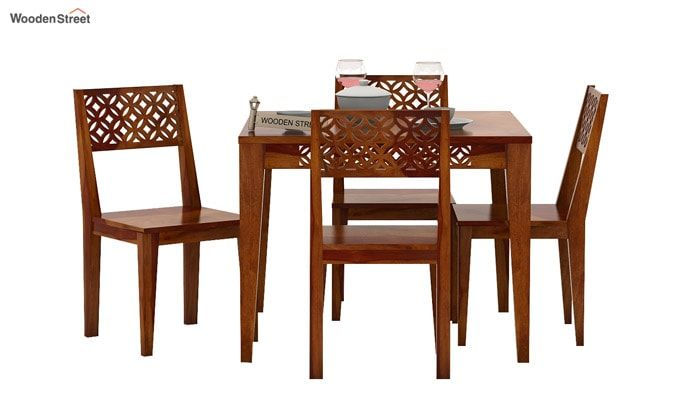 Cambrey 4 Seater Dining Set (Honey Finish)-3