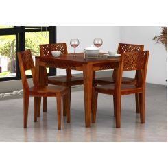 Cambrey 4 Seater Dining Set (Honey Finish)