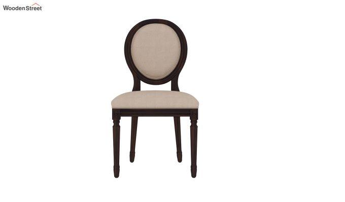 Clark 4 Seater Round Dining Set (Walnut Finish)-6