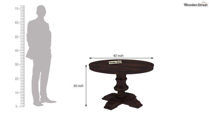 Clark 4 Seater Round Dining Set (Walnut Finish)-8